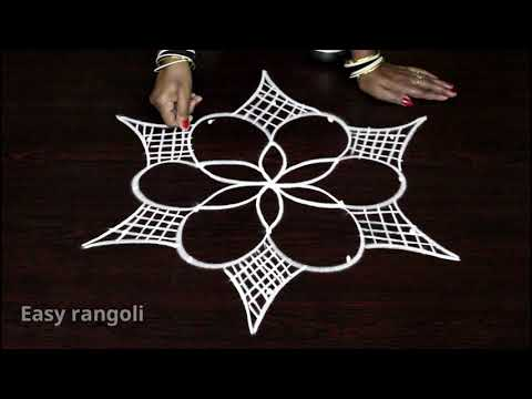 latest easy rangoli designs with 5 dos * simple kolam designs with dots * muggulu designs with dots