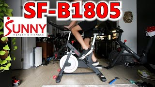 Sunny Health and Fitness SF-B1805 first impressions review, unboxing and assembly - sunny bike 1805