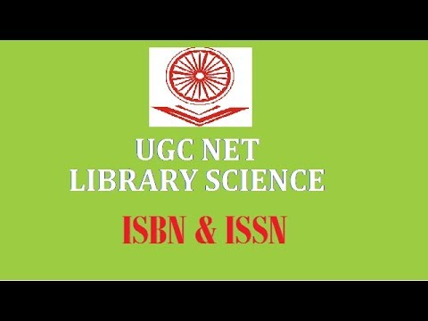 ISBN  AND ISSN I UGC NET LIBRARY & INFORMATION SCIENCE I RSMSB LIBARIAN 2018