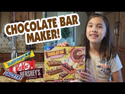 CHOCOLATE BAR MAKER!!! Chef Jillian Makes Candy!