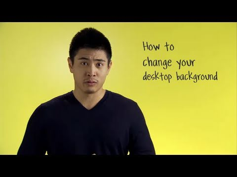 How to change your desktop background (Mac)