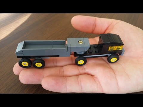 How To Build Lego Small Truck With Trailer (DIY)