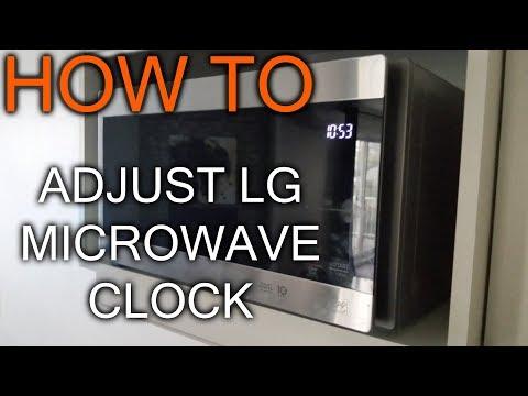 How to Adjust Clock on LG Microwave
