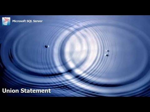 SQL - Union Statement