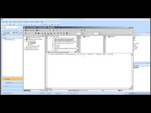Crystal Reports 2011 - Using Text Arrays with Trey Morrow