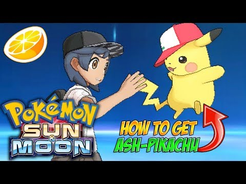 Pokemon Sun & Moon - How To Get Ash Pikachu - I CHOOSE YOU!