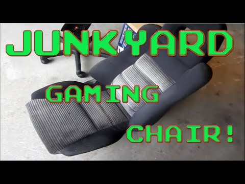 Build a gaming chair using a REAL car seat!