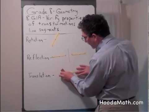 Verify Properties of Transformations using Line Segments