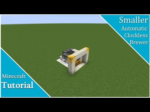 Minecraft Tutorial: Small Clockless Automatic Brewer For Repeat Brewing The Same Potion | 1.8-1.12+