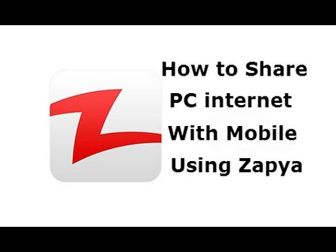 Share PC Internet With Mobile Using Zapya