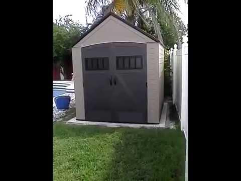 Orlando's Handyman installs a Rubbermaid shed