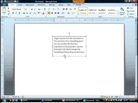 Word Textbox