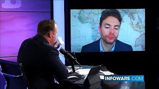 Alex Jones Co-Host Looks Fed Up With His Nonsense