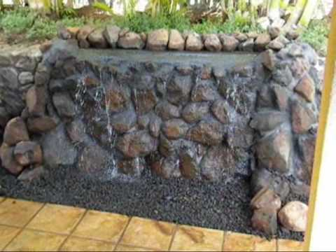 Wall waterfall blue rock  in Kihei email.wmv