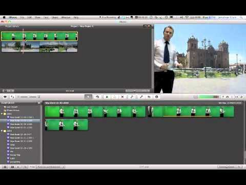 Green Screen tutorial - iMovie - old version