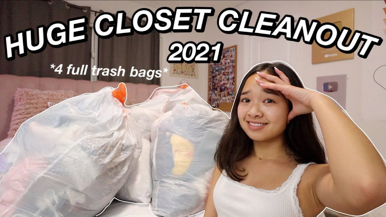 HUGE CLOSET CLEANOUT 2021 | Nicole Laeno