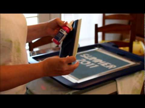 How to screen print with the Yudu Machine By ScrappinCricut!