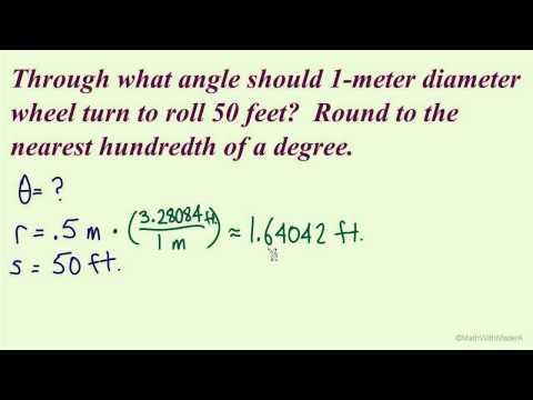 Arc Length and Angular Speed - Part 6 (Arc Length Example #3)
