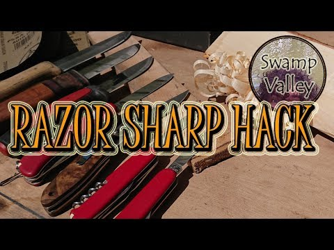 How to Sharpen a Bushcraft Knife - Budget Sharpening Hack