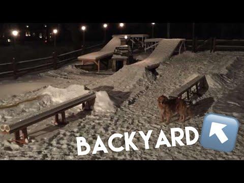 HOW TO BUILD A BACKYARD SNOWBOARDING TERRAIN PARK