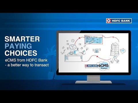 eCMS from HDFC Bank -  a better way to transact