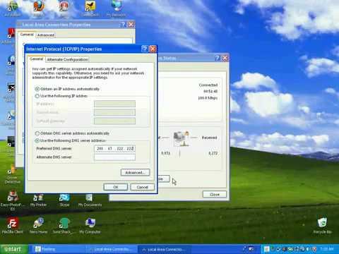 How to Change DNS on Windows XP Vista Windows 7