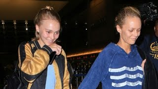 X17 EXCLUSIVE: Vanessa Paradis And Lily-Rose Depp Laugh When Asked About Amber Heard