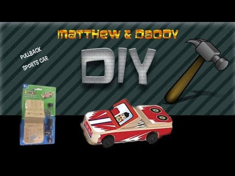 CARS Street racers  - DIY wooden race car pullback toys for kids and toddlers