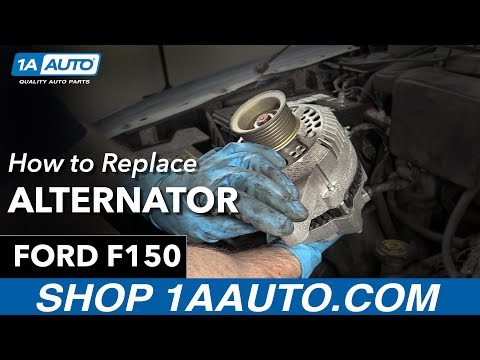 How to Replace Install Alternator 98 Ford F150