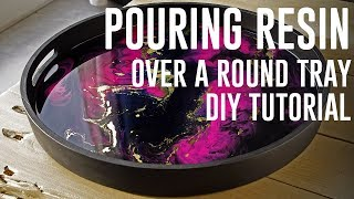 Decorative tray Resin pour DIY + TUTORIAL