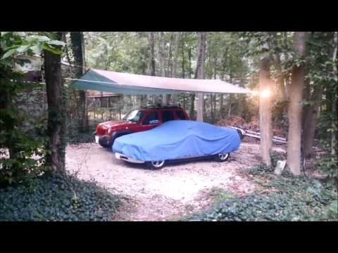 Tarp Carport With A-Frame Roofline