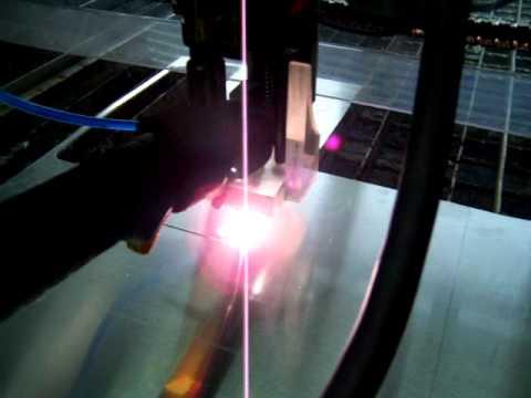 plasma cut example aluminum 2mm