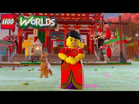 LEGO Worlds - How To Unlock Chinese New Year Celebrator from Temple Gate Brick Build