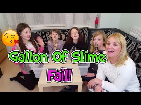 Gallon Of Slime Gone Wrong! First Day TV Collab!