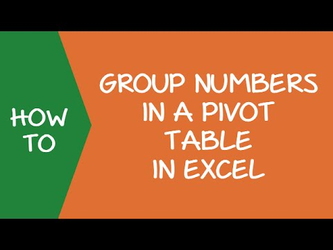 How to Group Numbers in a Pivot Table in Excel