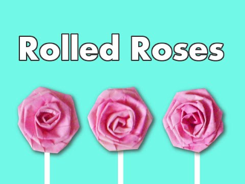 How to Make Rolled Paper Roses out of Typing Paper or Notebook Paper