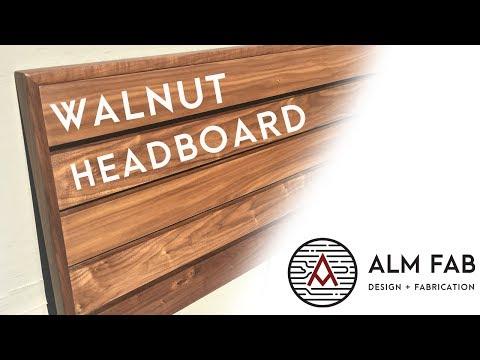 Walnut Headboard -- Woodworking