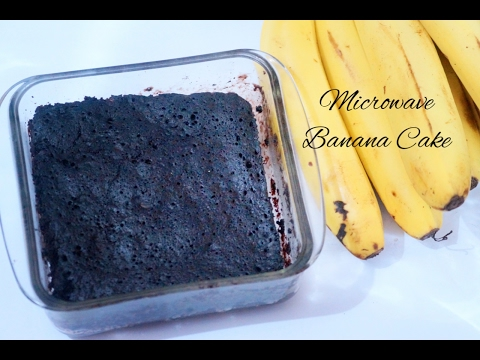 5 Minutes Eggless Banana Cake in Microwave (Eggless Banana Bread in 5 Minutes)