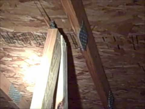 Home Inspector Nashville Reveals Damaged Roof Truss System .wmv