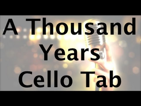 Learn A Thousand Years on Cello - How to Play Tutorial