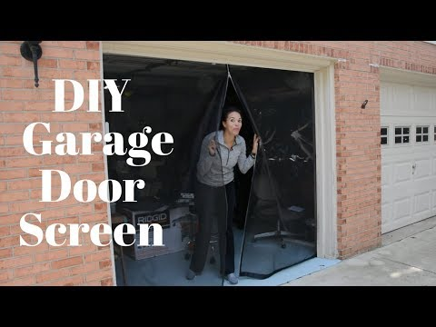 Make Your Own Garage Door Screen - DIY Tutorials - Thrift Diving