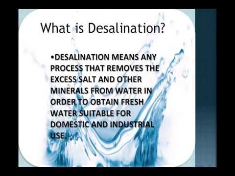 UTPAL SHANGHVI SCHOOL Desalination of sea water
