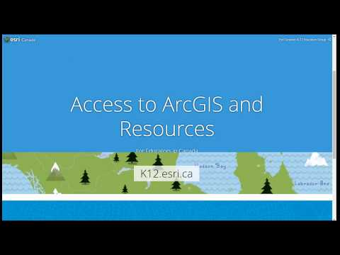 Access to ArcGIS and Resources - Navigating K12.esri.ca