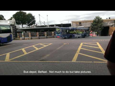Bus Ride from Belfast, Northern Ireland to Dublin, Republic of Ireland