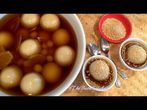 Cách làm Chè Trôi Nước - Glutinous Rice Balls with Mung Beans Filling in Ginger Syrup