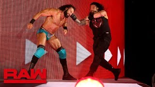 Roman Reigns unleashes an all-out assault on Jinder Mahal: Raw, May 14, 2018