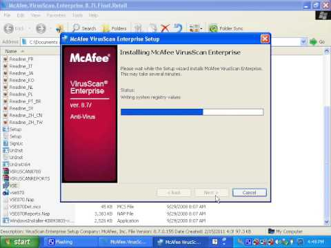 install mcafee enterprise,update manual