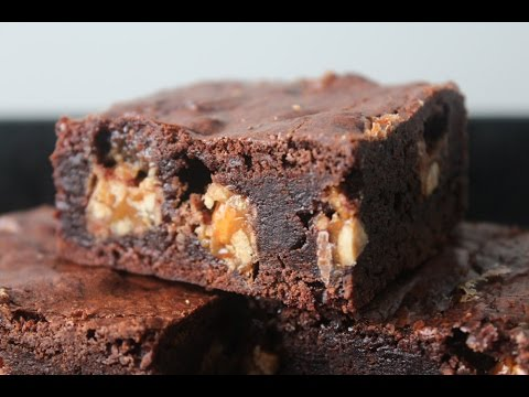 How To Make Fudgy Snickers Brownie - By One Kitchen Episode 409