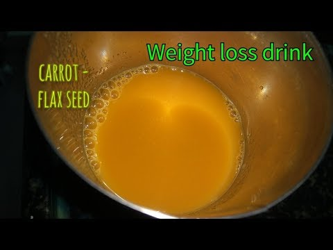 carrot flaxseed dates weight loss drink