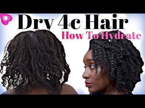 Best MOISTURIZER For Dry NATURAL HAIR | Water Rinse For Long Hair